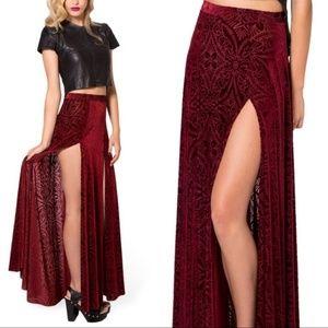 Blackmilk velvet skirt